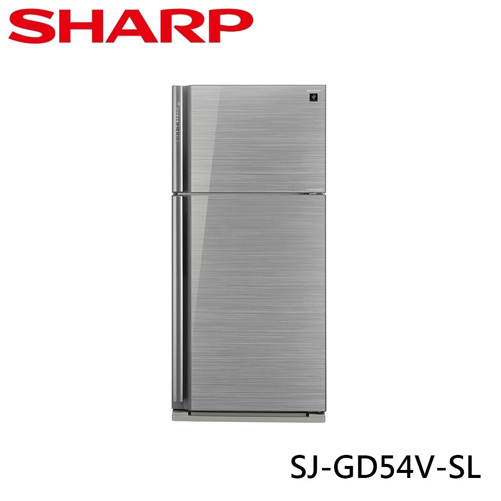 SHARP 夏普 541L 自動除菌離子變頻雙門電冰箱 光耀銀 SJ-GD54V-SL