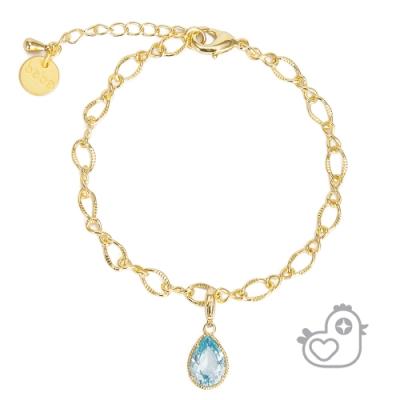 【彩糖鑽工坊】彩糖貝貝  土耳其藍 藍色鋯石手鍊 閨蜜 繽紛寶石系列