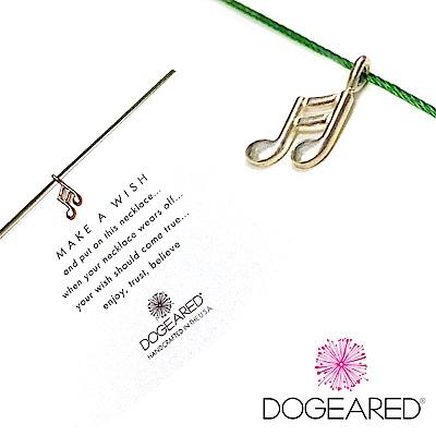 Dogeared 愛的音符項鍊 Love Note 美麗樂章 銀墜翠綠色棉繩 附原廠盒