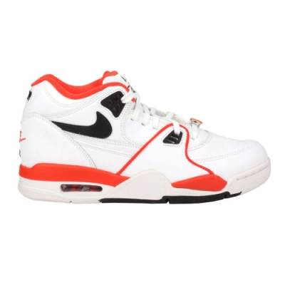 NIKE AIR FLIGHT 89 EMB 男籃球鞋-經典 復古 街頭籃球 氣墊 CZ6097100 白橘黑