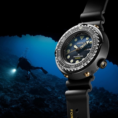 SEIKO 精工 PROSPEX 鮪魚罐頭 35周年限量 復刻1986石英千米潛水錶(S23635J1/7C46-0AR0B)