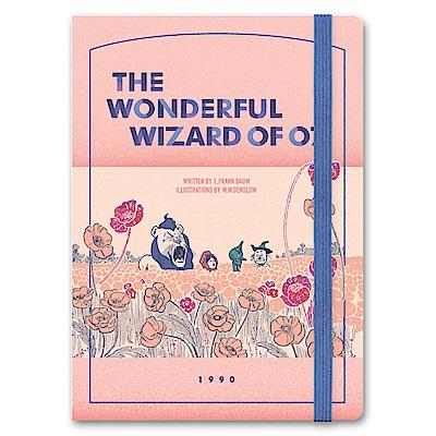 7321 Design 魔幻系列-桃樂絲綁帶橫線精裝筆記本-OZ花園