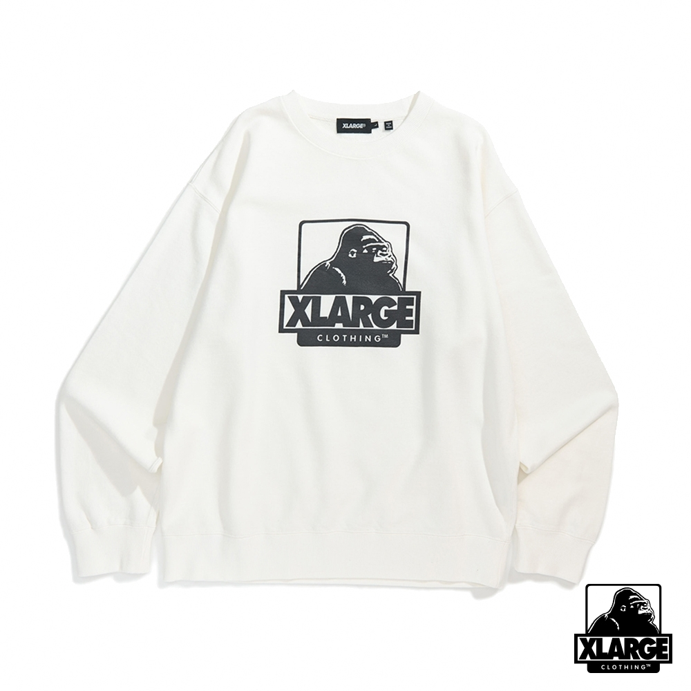 XLARGE OG CREWNECK SWEAT大學T-白