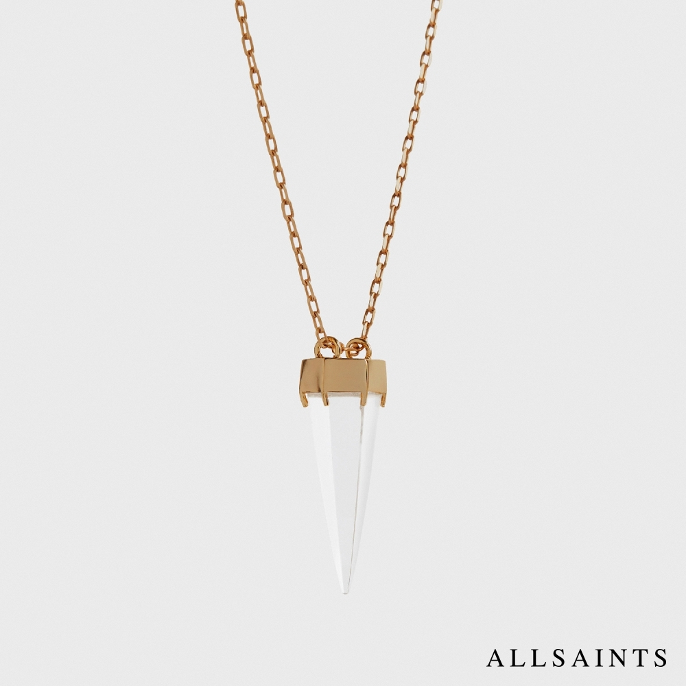 ALLSAINTS NOVIA 簡約大方水晶造型項鍊-水晶白