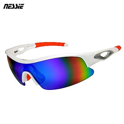 Nessie 尼斯眼鏡 專業運動偏光太陽眼鏡-競速白