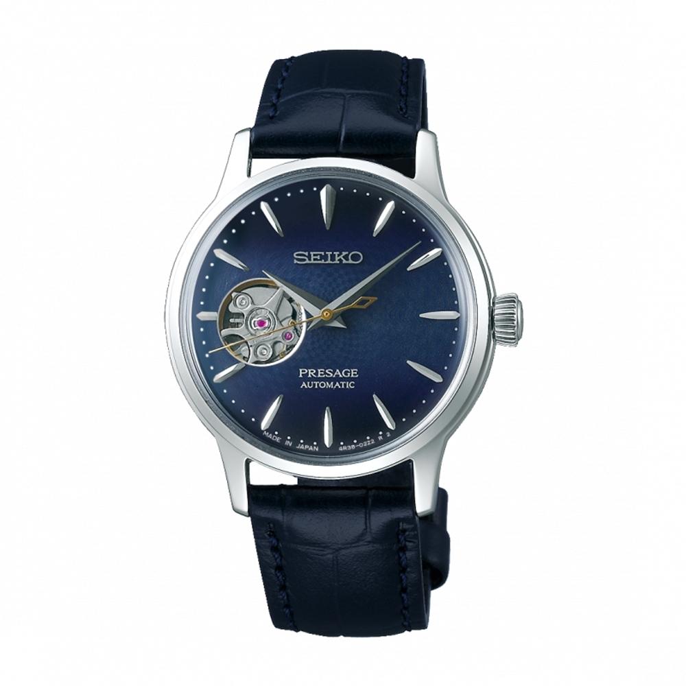 SEIKO PRESAGE開芯機械腕錶4R38-01Y0B(SSA785J1)33.8mm