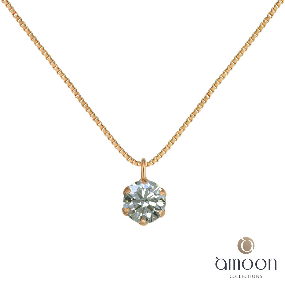 amoon  K金真鑽系列 愛意 K金鑽石項鍊