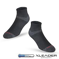 LEADER ST-06 Coolmax專業排汗除臭 機能運動襪 男款 黑色 - 急
