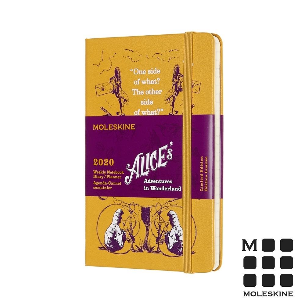 MOLESKINE 2020限定愛麗絲週記手帳12M(口袋型)-黃