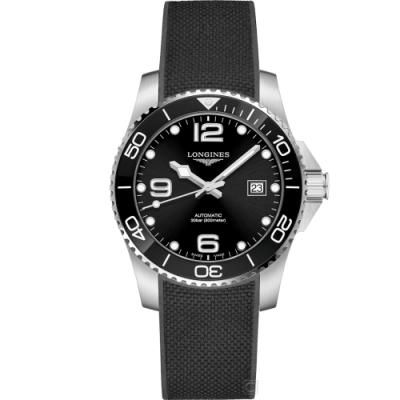 LONGINES 浪鬼 征服者陶瓷潛水機械錶(L37814569)黑/41mm