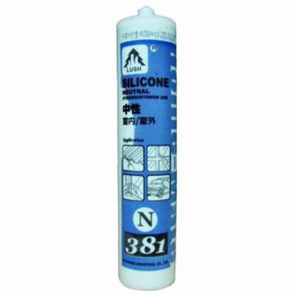 N381 中性 300ml 矽利康防水膠/玻璃膠/填縫劑5支-米白