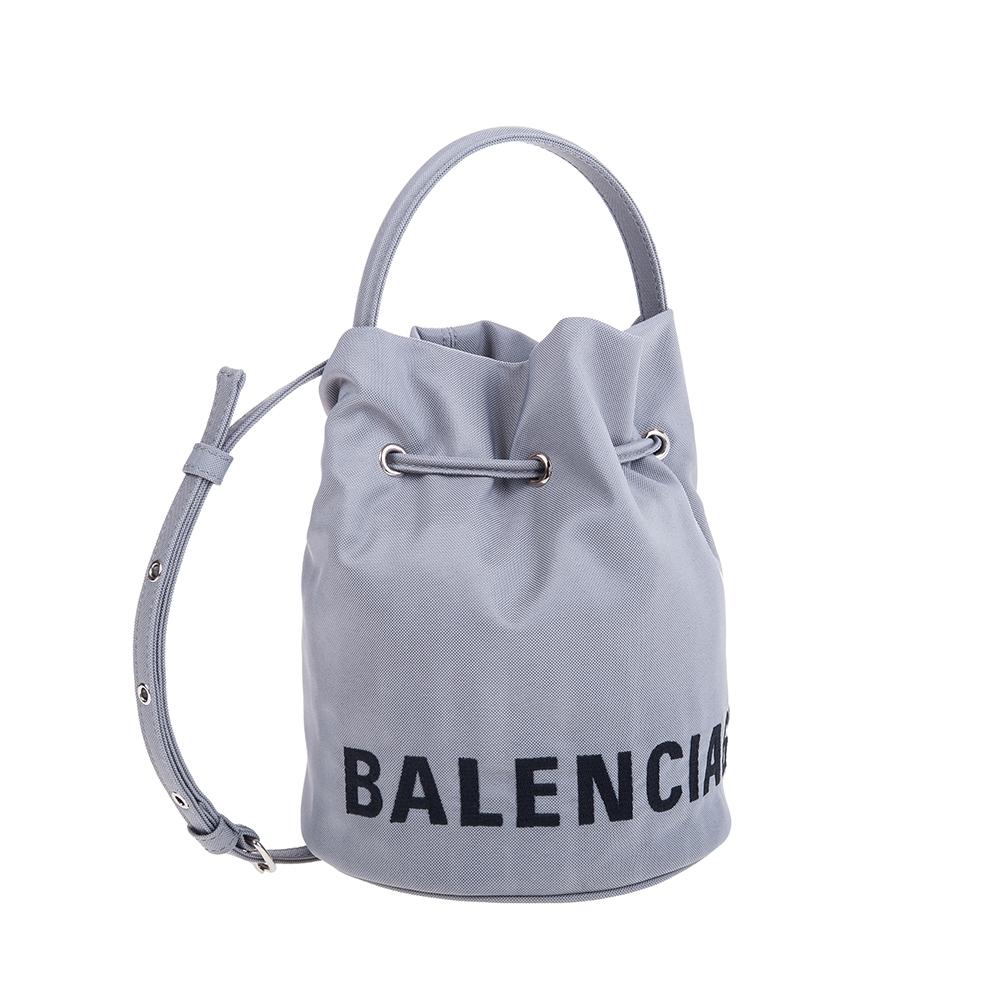 Balenciaga 新款SAC SEAU WHEEL XS 尼龍水筒手提/肩背包 (灰色)