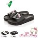 Hello Kitty女鞋 輕量減壓吸震休閒拖鞋-白.黑 product thumbnail 1