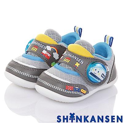 (雙11)ShinKanSen新幹線 透氣抗菌學步電燈童鞋-灰