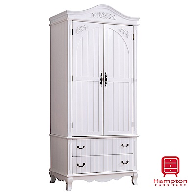 漢妮Hampton佩斯系列歐風3.2尺衣櫥-95x61x215cm