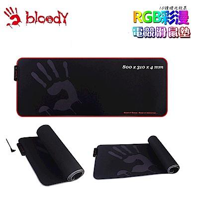 【A4 Bloody】MP-80N 光纖軟布RGB彩漫電競鼠墊