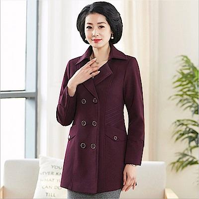 氣質襯線風衣外套-XL-5XL(共三色)-理子時尚