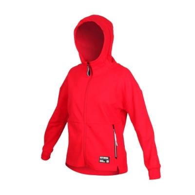 FIRESTAR 女 棉質立領連帽外套 紅