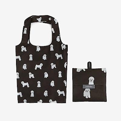 Dailylike 摺疊購物袋單肩包L-10比熊犬