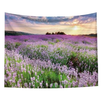 半島良品 北歐風裝飾掛布-植物系列/薰衣草田 150x130cm