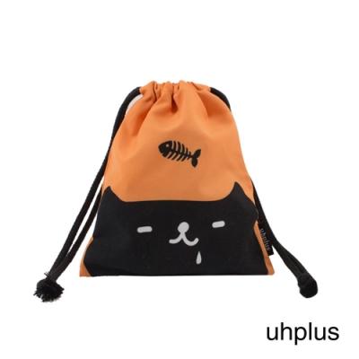 uhplus 迷你束口袋-喵日常 貪吃鬼(野橙橘)