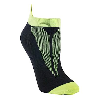 【ZEPRO】男子透氣慢跑踝襪-閃電黃
