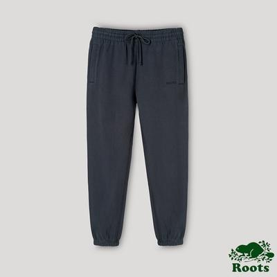 Roots中性- ONE系列 有機棉刷毛長褲-鐵灰色
