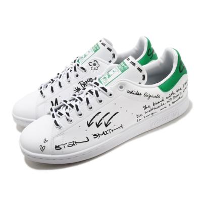 adidas 休閒鞋 Stan Smith 復古 低筒 男女鞋 愛迪達 三葉草 老人頭 皮革鞋面 穿搭 白 綠 GV9800