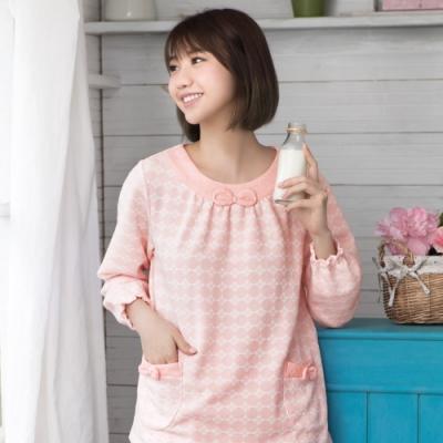 華歌爾睡衣-保暖 M-L長袖睡衣褲裝(橘)