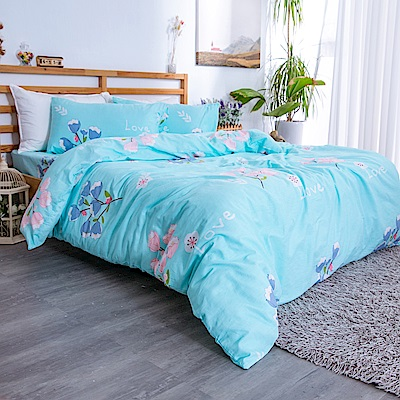 kokomos 扣扣馬 台灣製鎮瀾宮授權40支精梳棉雙人加大床包枕套三件組 波羅地海的純淨