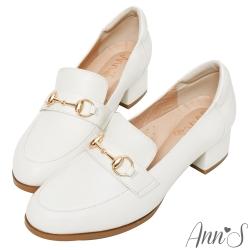 Ann'S奶奶鞋小羊皮真皮平底鞋