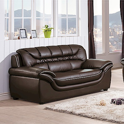 AS-昆頓咖啡皮沙發二人座-163x89x87cm