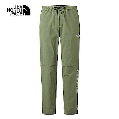 The North Face北面男款軍綠色防潑水戶外休閒長褲