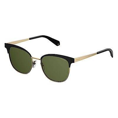 Polaroid PLD 4055/S-復古眉框太陽眼鏡 黑金色