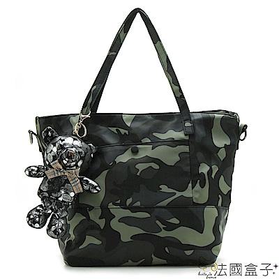 法國盒子 韓系熱銷款淘氣Bear二用包(共二色)