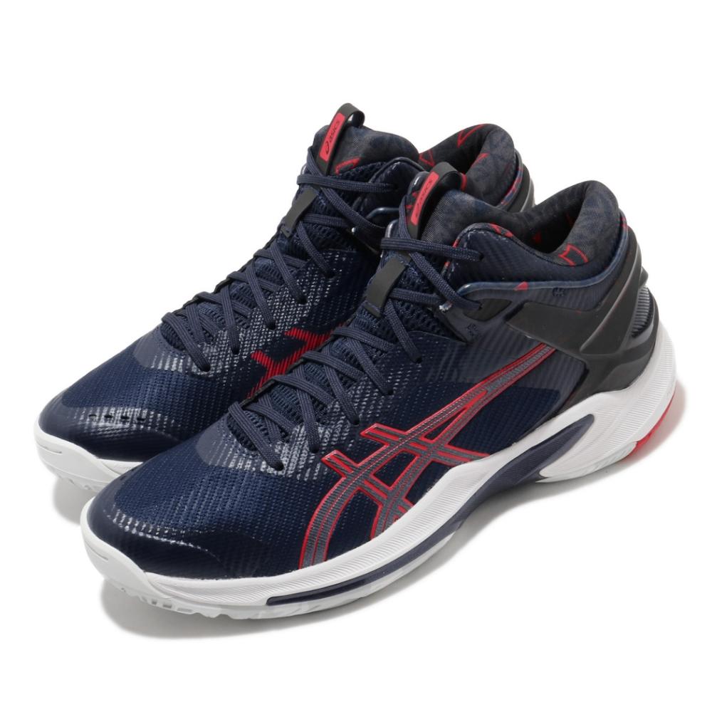 Asics 籃球鞋 Gelburst 24 GE 男鞋 亞瑟士 緩衝 耐磨 穩定片 亞瑟膠 中筒 藍 紅 1063A016401