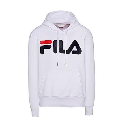 FILA #東京企劃-原宿篇 長袖連帽T恤-白 1TES-5443-WT