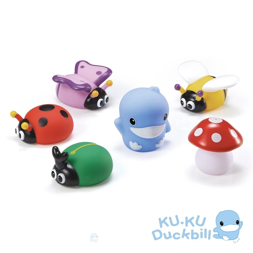 KUKU酷咕鴨 水中玩具-花園昆蟲組(藍/粉)