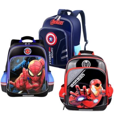 Disney 迪士尼 美國隊長與蜘蛛人鋼鐵人3D立體護脊書包 共3款