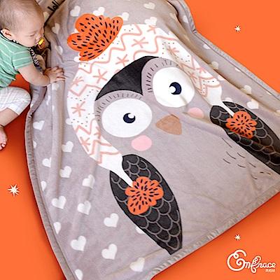 Embrace英柏絲 暖暖動物 法蘭絨雙層兒童暖毯 100x140cm超柔手感