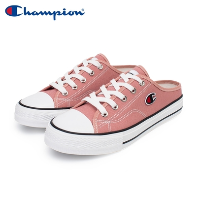 【Champion】女 帆布鞋 穆勒鞋 CANVAS SLIP-玫紅(WSLS-1014-50)