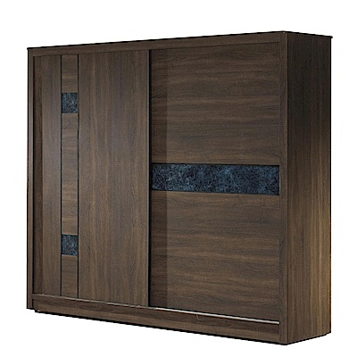 品家居 達菲娜7.1尺胡桃木紋推門衣櫃-212x60x200cm-免組