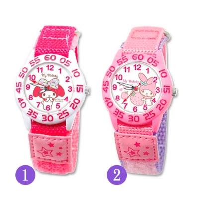 Sanrio三麗鷗自黏休閒織帶手錶33mm-My Melody美樂蒂(兩款任選)