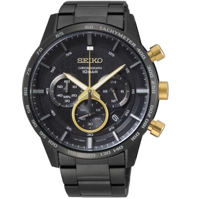 SEIKO精工石英錶50週年經典計時手錶(SSB363P1)