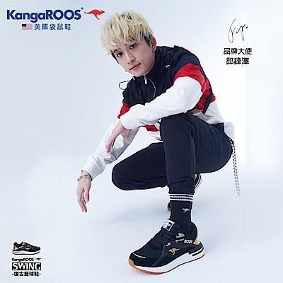 KangaROOS 男 RUNAWAY EVO 科技運動鞋(黑/金-KM01020)