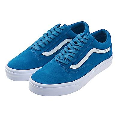 (男)VANS Old Skool 經典素面休閒鞋*藍色