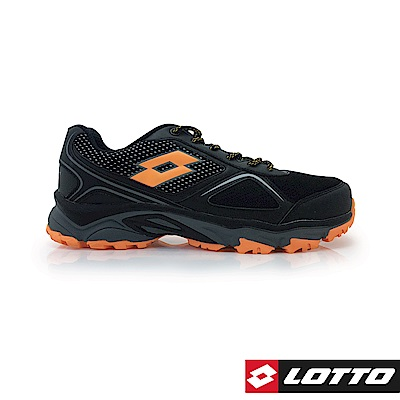 LOTTO 義大利 男 CROSS RUN 越野跑鞋 (黑/橘紅)