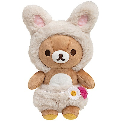 拉拉熊花園小兔子系列毛絨公仔。懶熊San-X