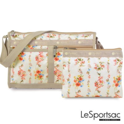LeSportsac - Standard雙口袋斜背包-附化妝包(新娘花圈)
