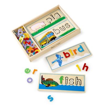 【Melissa & Doug 美國瑪莉莎】學拼音英文配對拼圖卡